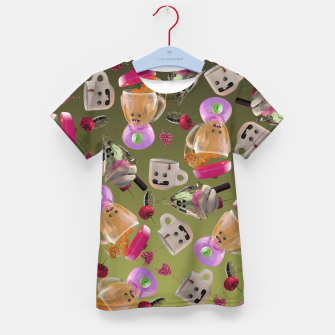 Thumbnail image of Kitchen Friends Kid's t-shirt, Live Heroes