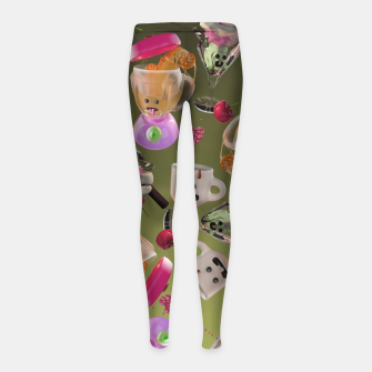 Thumbnail image of Kitchen Friends Girl's leggings, Live Heroes