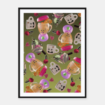 Thumbnail image of Kitchen Friends Framed poster, Live Heroes