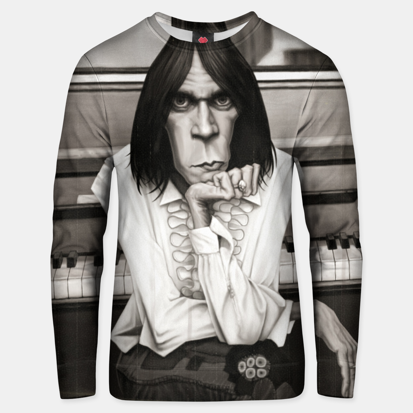 Image of Neil Young Piano Unisex sweater - Live Heroes