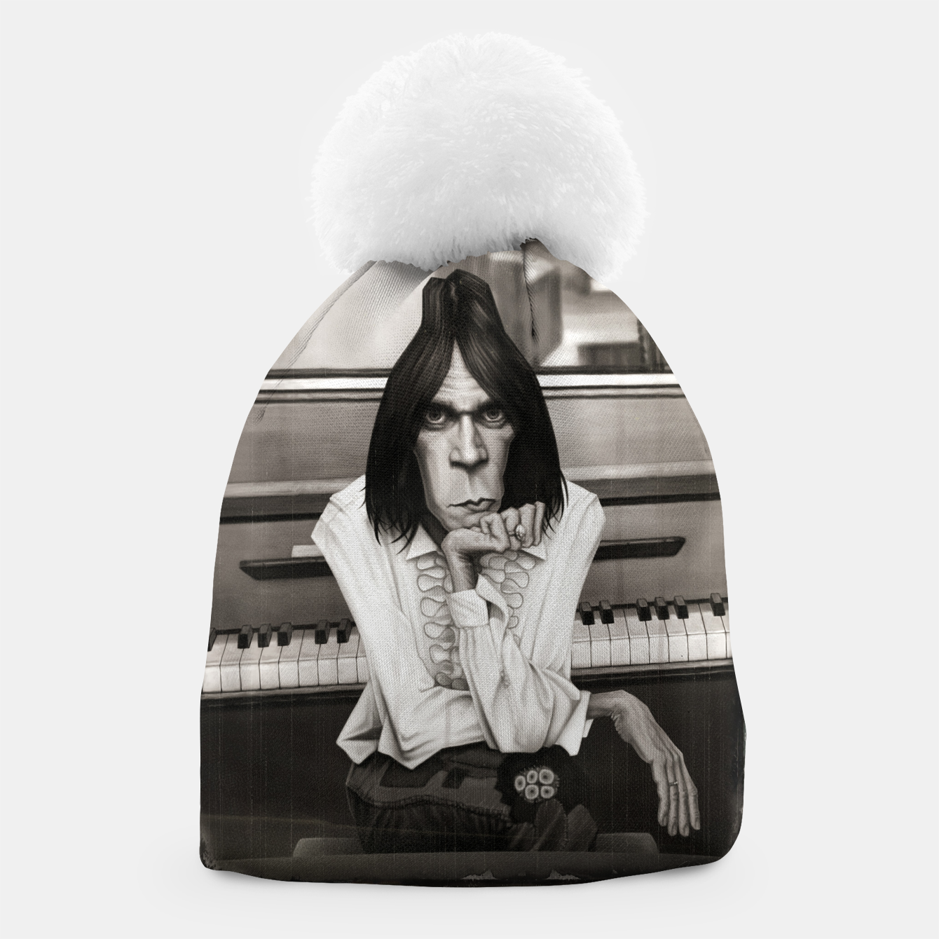 Image of Neil Young Piano Beanie - Live Heroes
