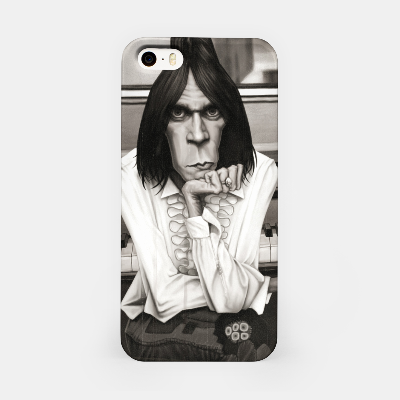 Image of Neil Young Piano iPhone Case - Live Heroes