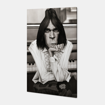 Thumbnail image of Neil Young Piano Canvas, Live Heroes