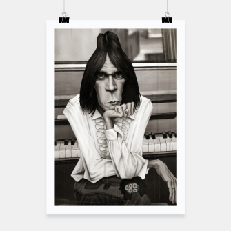 Neil Young Piano Poster thumbnail image
