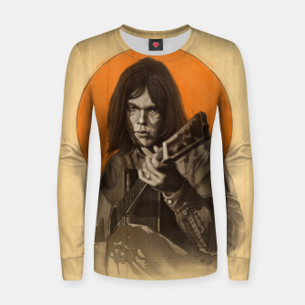 Thumbnail image of Neil Young Harvest Women sweater, Live Heroes