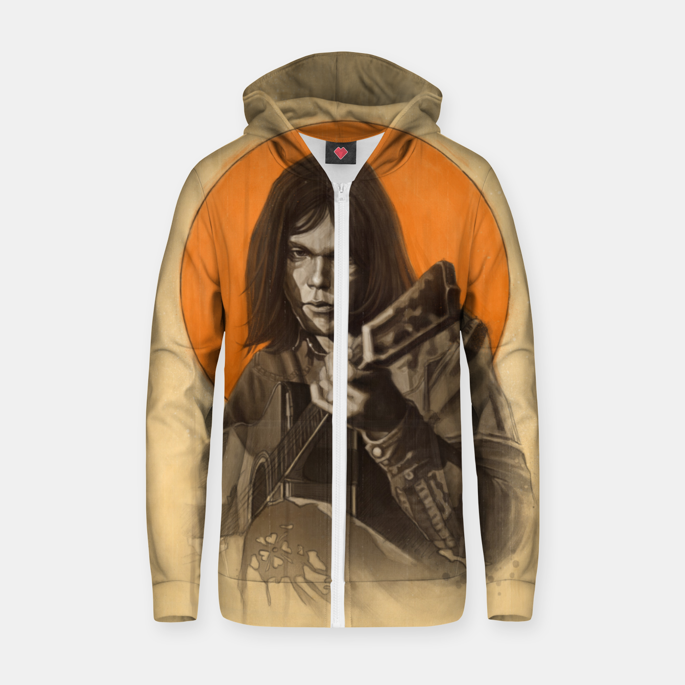 Image of Neil Young Harvest Zip up hoodie - Live Heroes