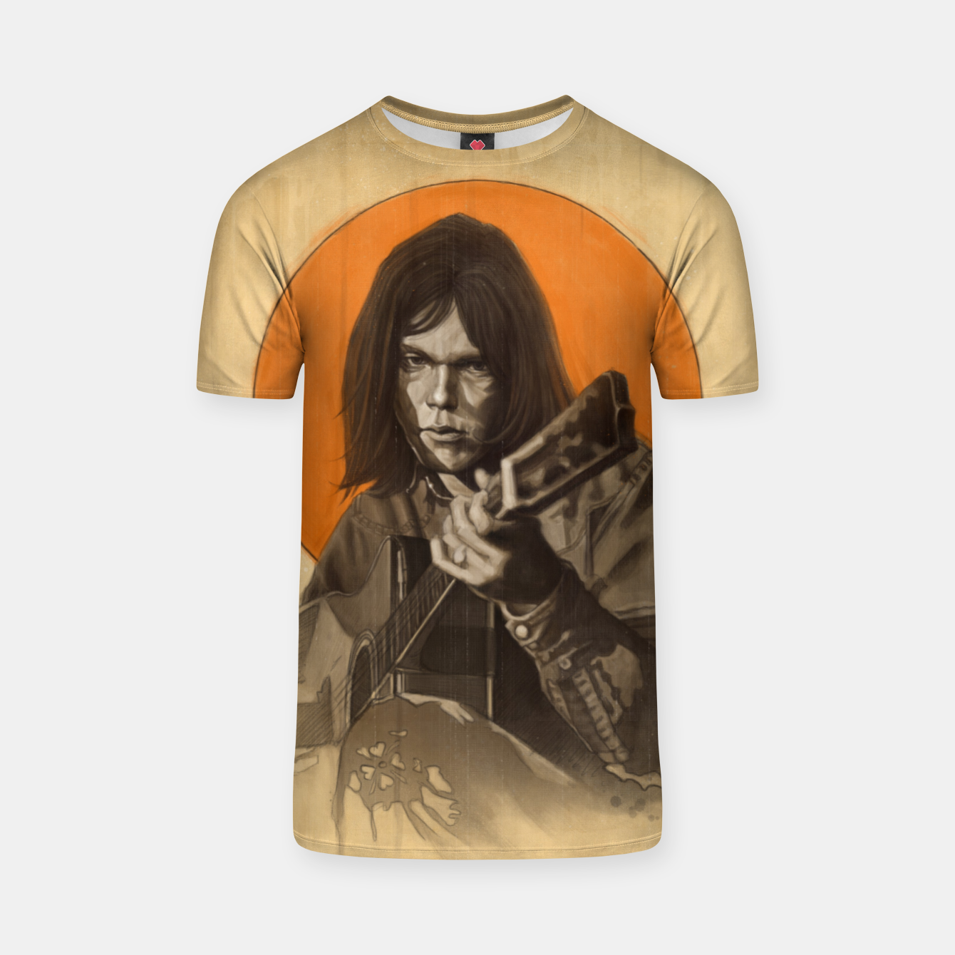 Image of Neil Young Harvest T-shirt - Live Heroes