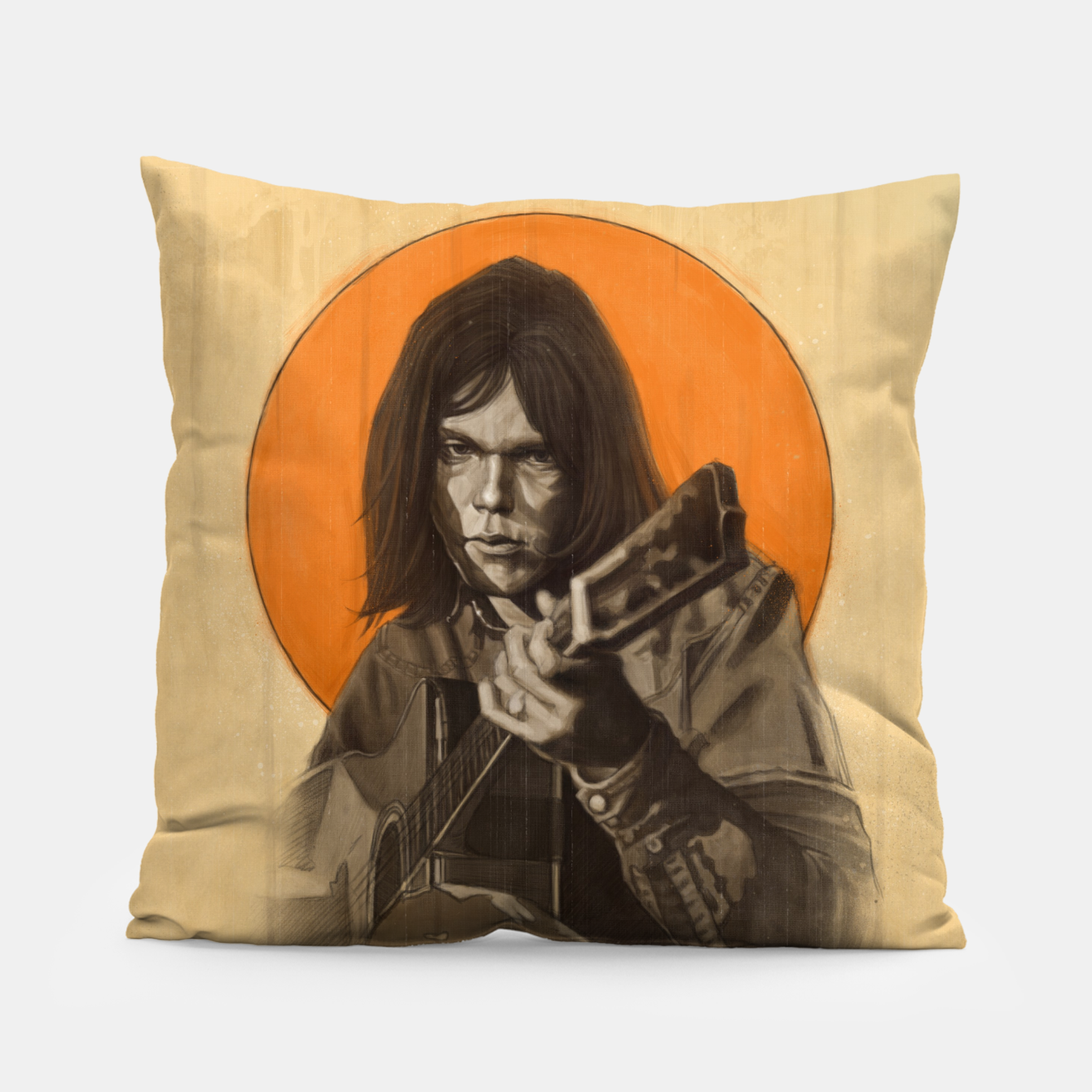 Image of Neil Young Harvest Pillow - Live Heroes