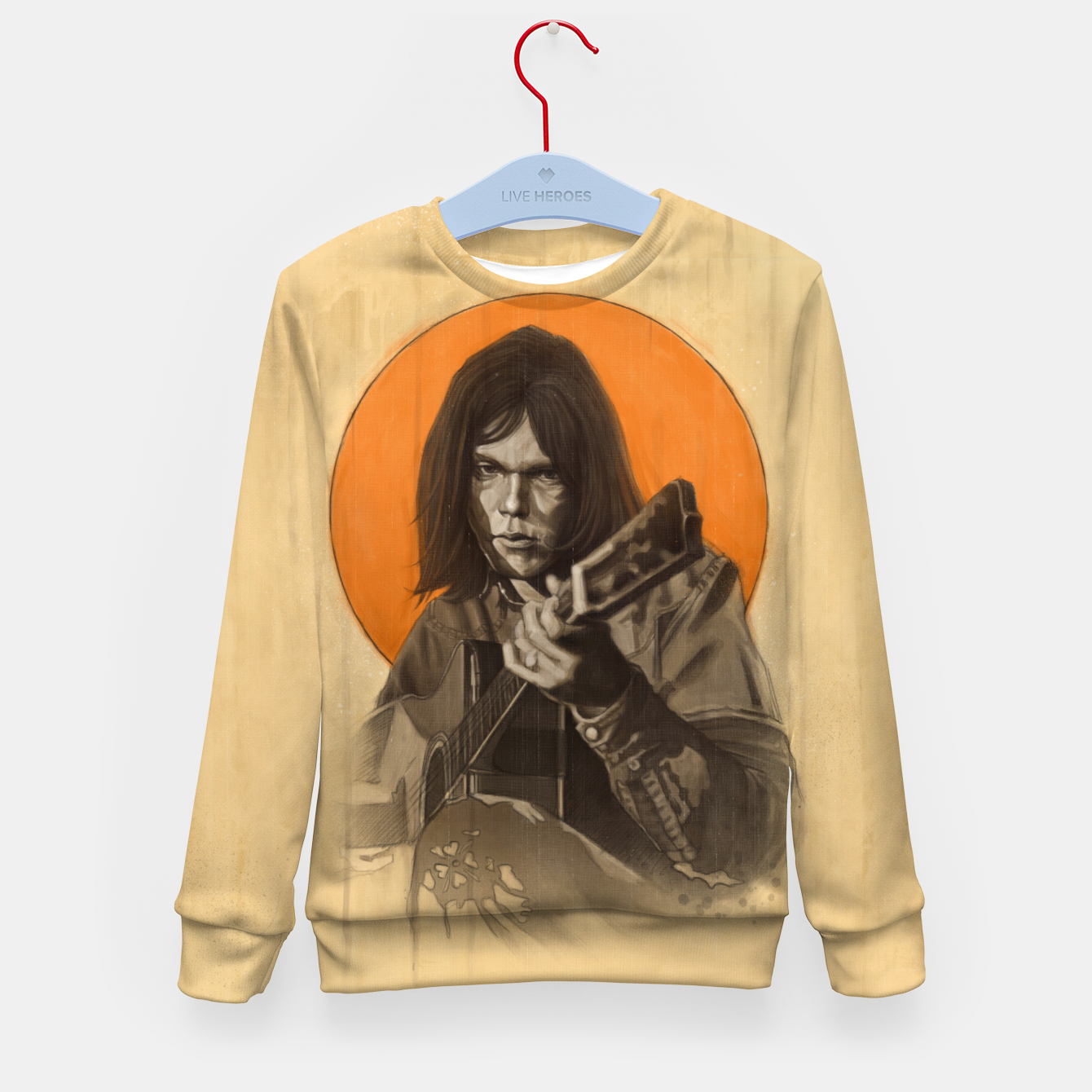 Image of Neil Young Harvest Kid's sweater - Live Heroes