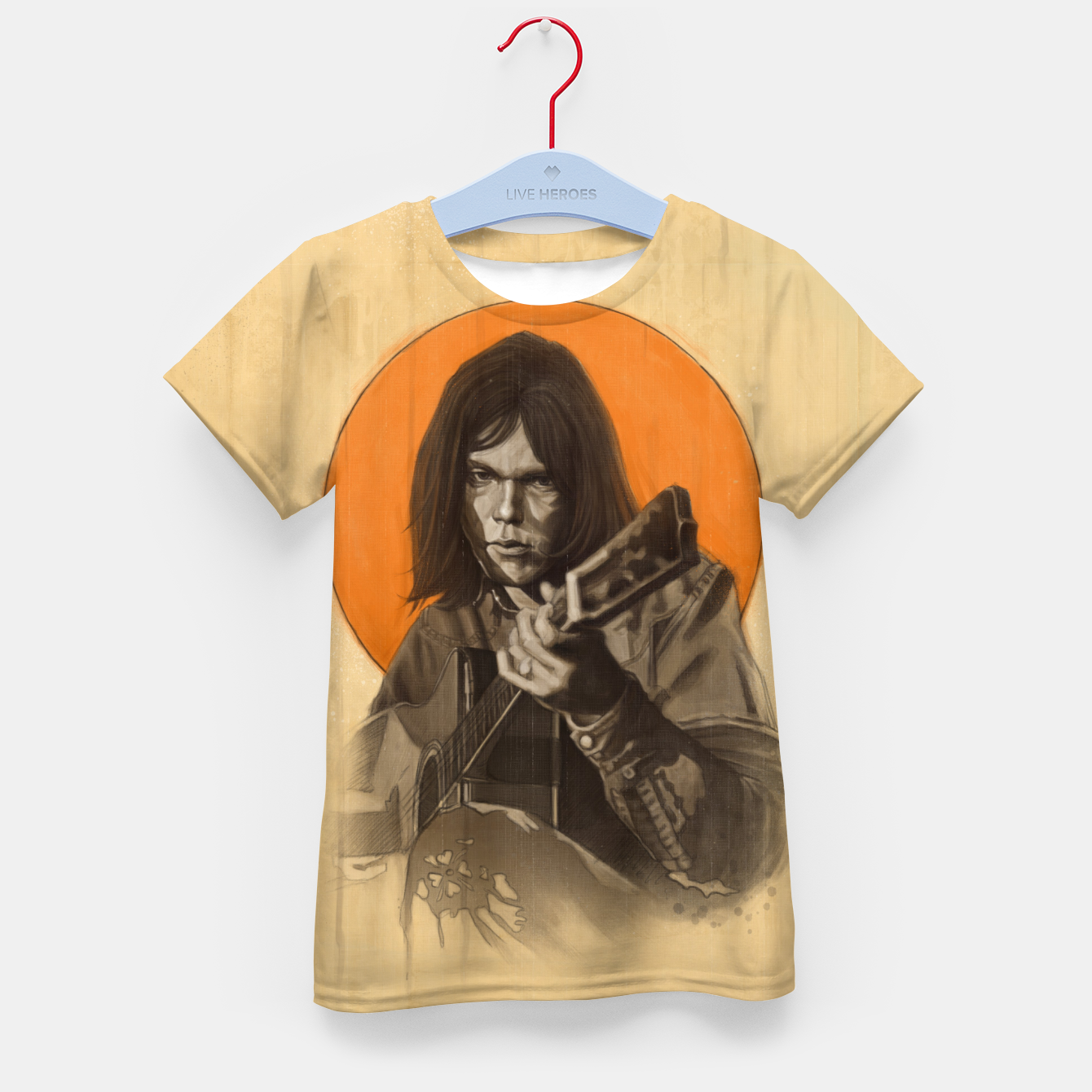 Image of Neil Young Harvest Kid's t-shirt - Live Heroes