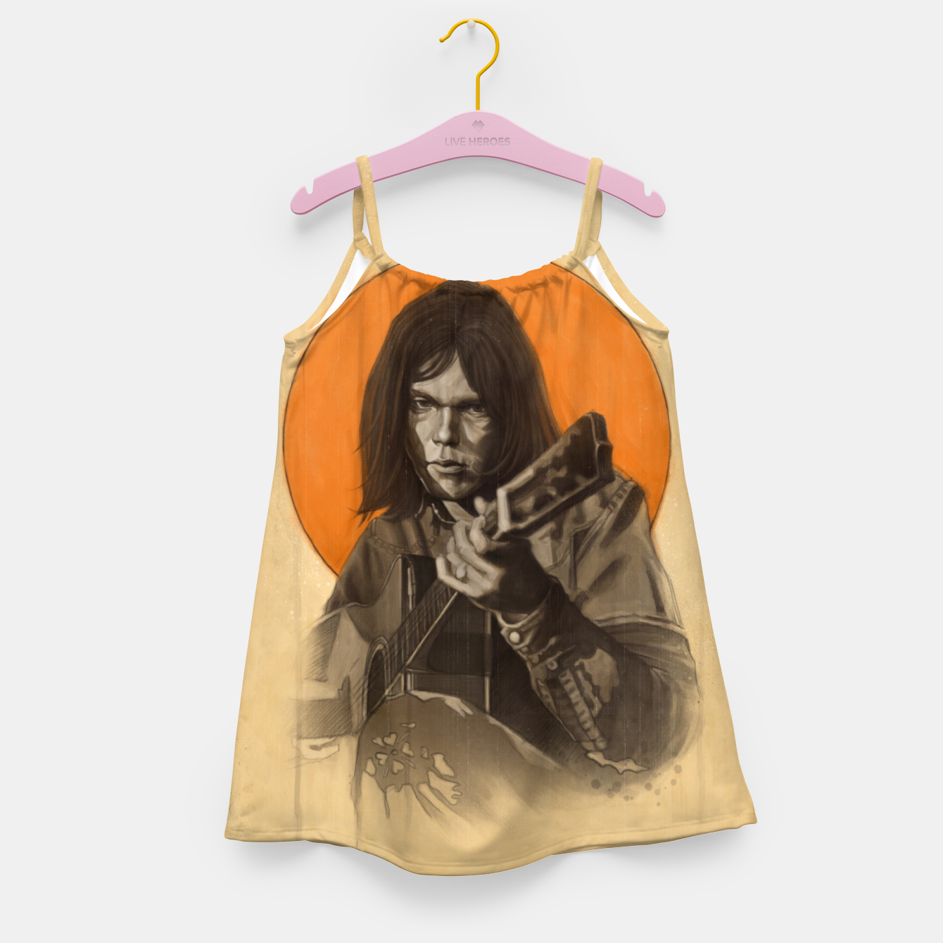 Image of Neil Young Harvest Girl's dress - Live Heroes