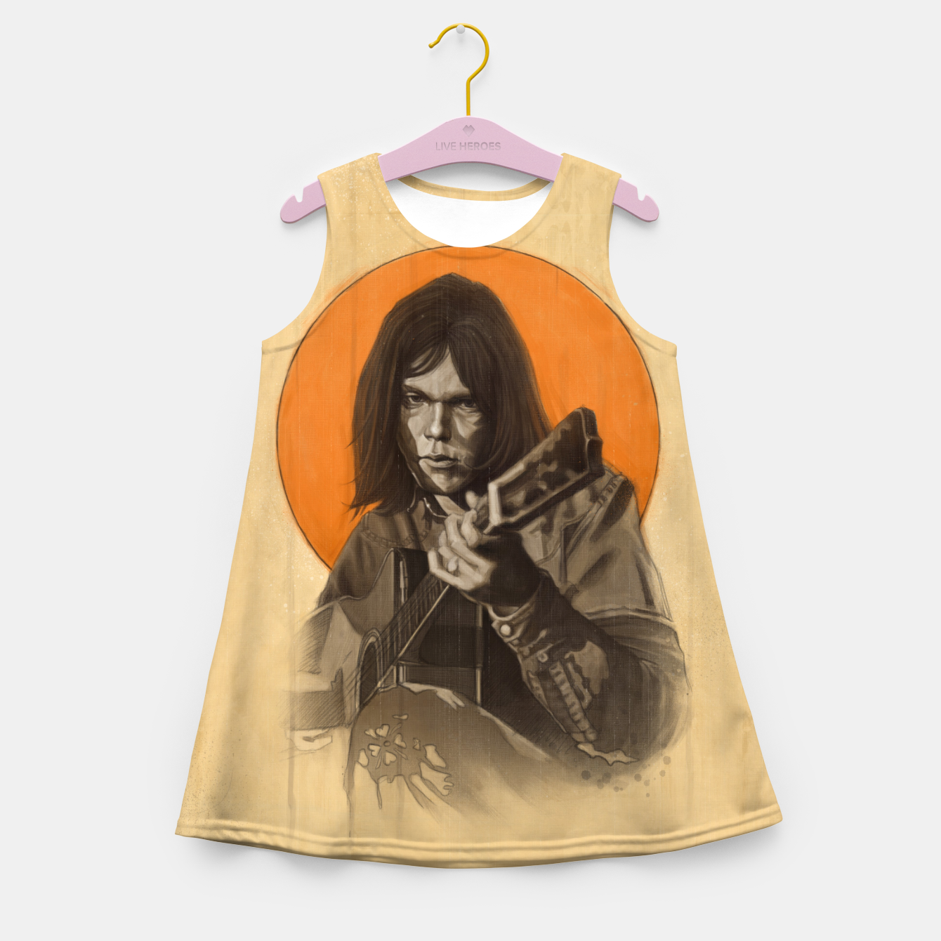 Image of Neil Young Harvest Girl's summer dress - Live Heroes