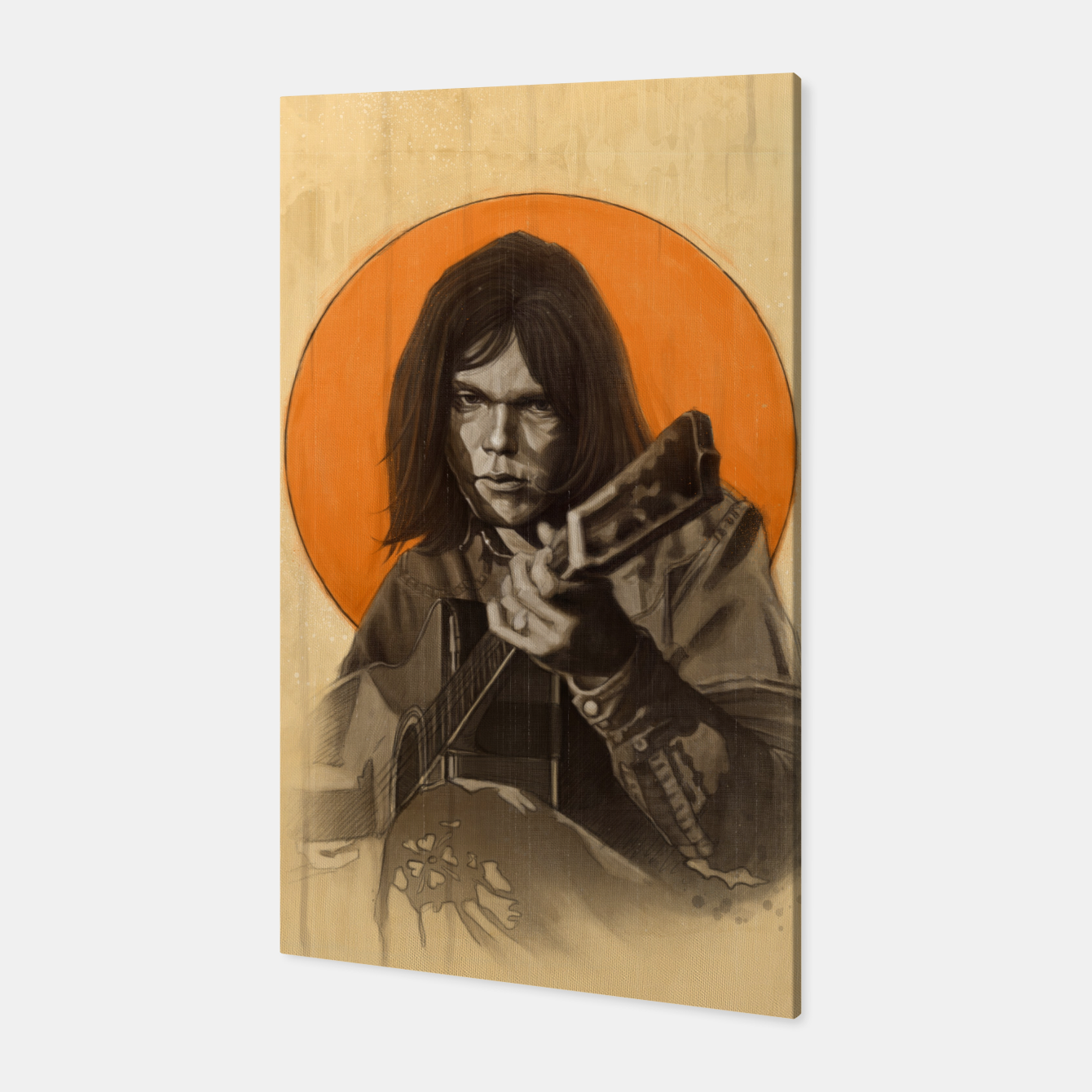 Image of Neil Young Harvest Canvas - Live Heroes