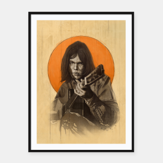 Thumbnail image of Neil Young Harvest Framed poster, Live Heroes