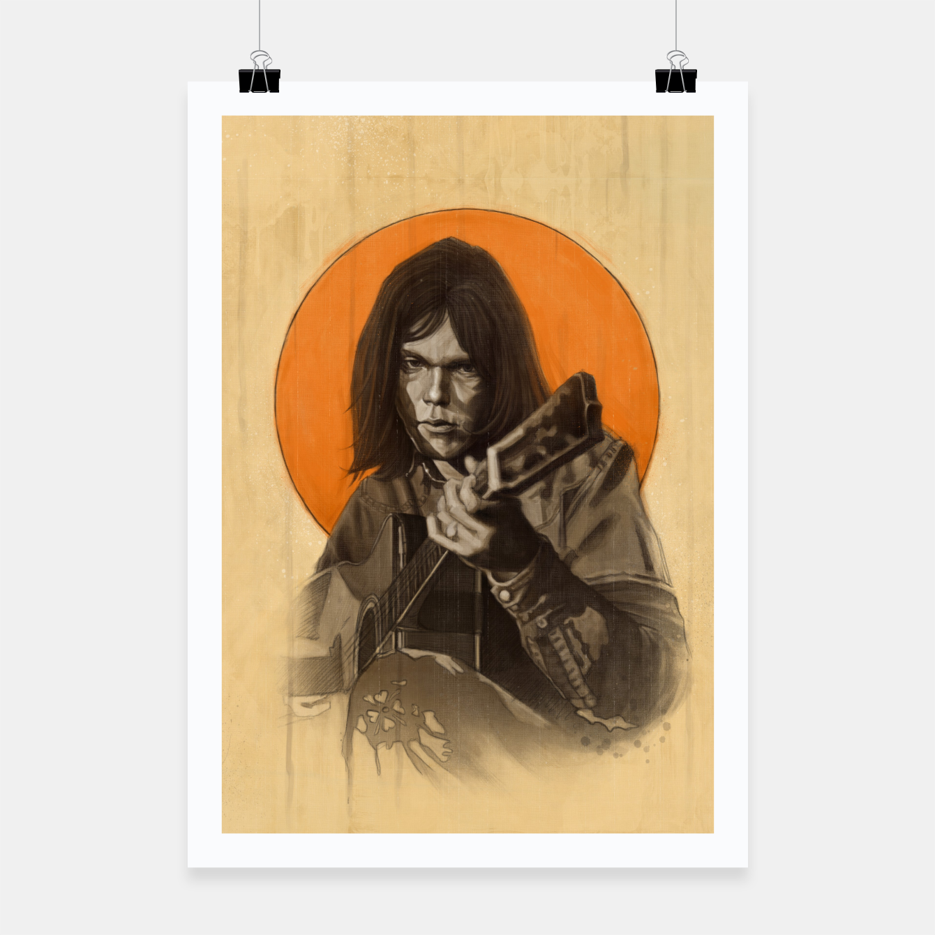 Image of Neil Young Harvest Poster - Live Heroes