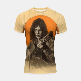 Thumbnail image of Neil Young Harvest Shortsleeve rashguard, Live Heroes
