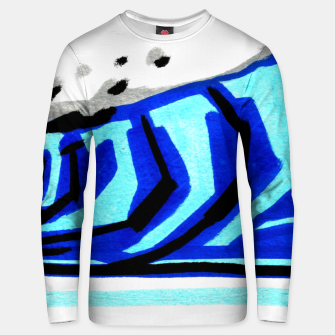 Thumbnail image of Blue left wave Unisex sweater, Live Heroes