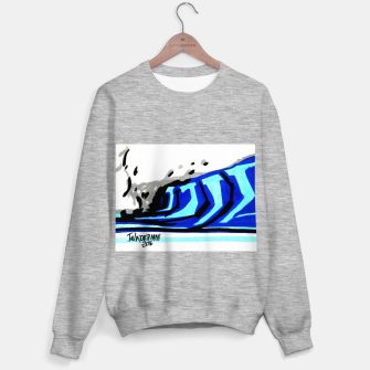 Thumbnail image of Blue left wave Sweater regular, Live Heroes