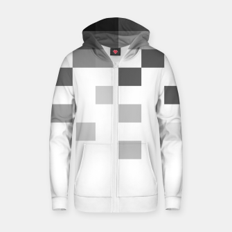 Thumbnail image of Pixels in Grey Zip up hoodie, Live Heroes