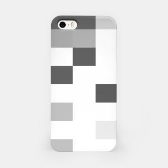 Thumbnail image of Pixels in Grey iPhone Case, Live Heroes