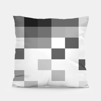 Thumbnail image of Pixels in Grey Pillow, Live Heroes