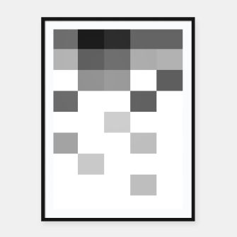 Thumbnail image of Pixels in Grey Framed poster, Live Heroes