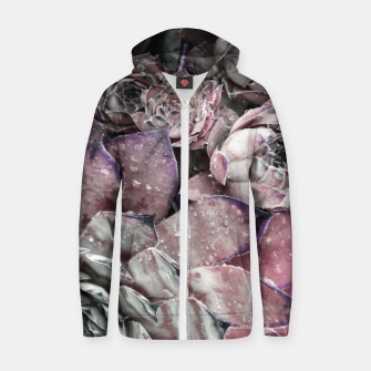 Thumbnail image of Succulent Closeup In Pink Zip up hoodie, Live Heroes