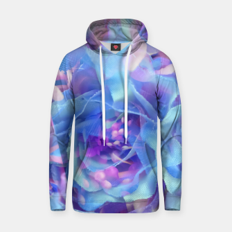 Thumbnail image of blooming blue rose texture abstract background Hoodie, Live Heroes