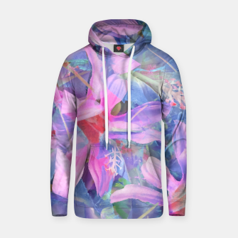 Thumbnail image of blooming pink and blue daisy flower abstract background Hoodie, Live Heroes