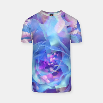 Thumbnail image of blooming blue rose texture abstract background T-shirt, Live Heroes