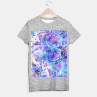 Thumbnail image of blooming blue rose texture abstract background T-shirt regular, Live Heroes
