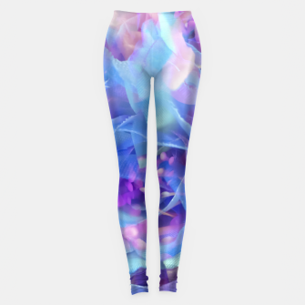 Miniaturka blooming blue rose texture abstract background Leggings, Live Heroes