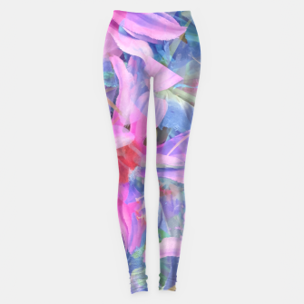Miniaturka blooming pink and blue daisy flower abstract background Leggings, Live Heroes
