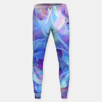 Thumbnail image of blooming blue rose texture abstract background Sweatpants, Live Heroes