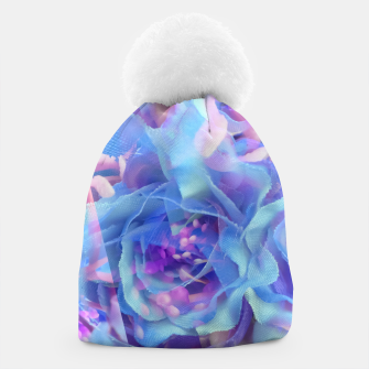 Thumbnail image of blooming blue rose texture abstract background Beanie, Live Heroes