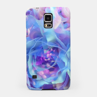 Thumbnail image of blooming blue rose texture abstract background Samsung Case, Live Heroes