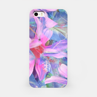 Thumbnail image of blooming pink and blue daisy flower abstract background iPhone Case, Live Heroes