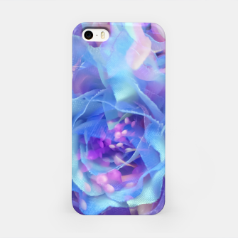 Thumbnail image of blooming blue rose texture abstract background iPhone Case, Live Heroes