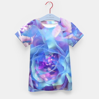 Thumbnail image of blooming blue rose texture abstract background Kid's t-shirt, Live Heroes