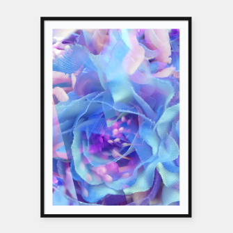 Thumbnail image of blooming blue rose texture abstract background Framed poster, Live Heroes