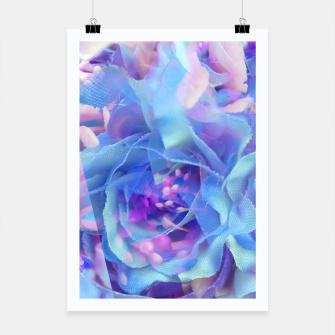 Thumbnail image of blooming blue rose texture abstract background Poster, Live Heroes