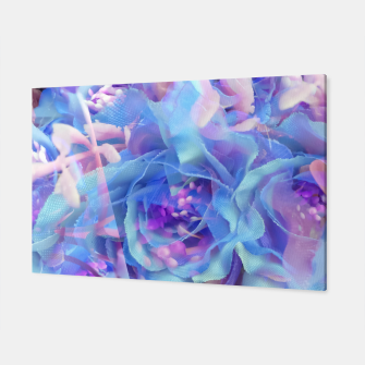Thumbnail image of blooming blue rose texture abstract background Canvas, Live Heroes