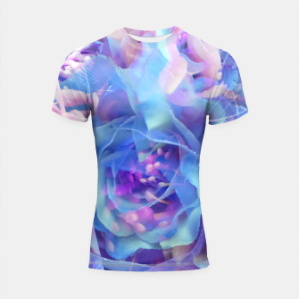 Thumbnail image of blooming blue rose texture abstract background Shortsleeve rashguard, Live Heroes