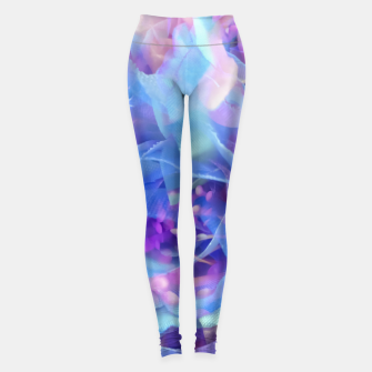 Thumbnail image of blooming blue rose texture abstract background Leggings, Live Heroes