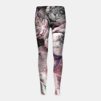 Thumbnail image of Succulent Closeup In Pink Girl's leggings, Live Heroes