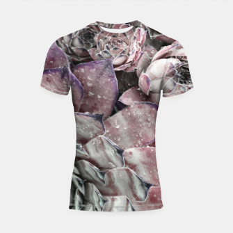 Thumbnail image of Succulent Closeup In Pink Shortsleeve rashguard, Live Heroes