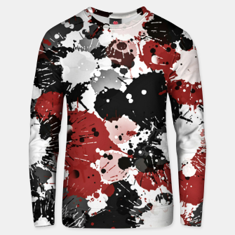 Thumbnail image of Black and red abstract Unisex sweater, Live Heroes
