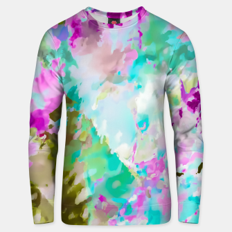 Miniaturka painting texture abstract background in blue pink green Unisex sweater, Live Heroes