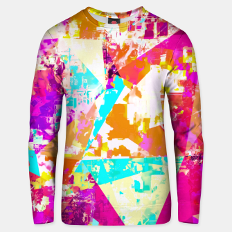 Thumbnail image of geometric triangle pattern abstract in pink blue purple Unisex sweater, Live Heroes