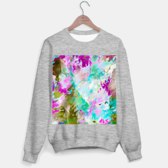 Miniaturka painting texture abstract background in blue pink green Sweater regular, Live Heroes